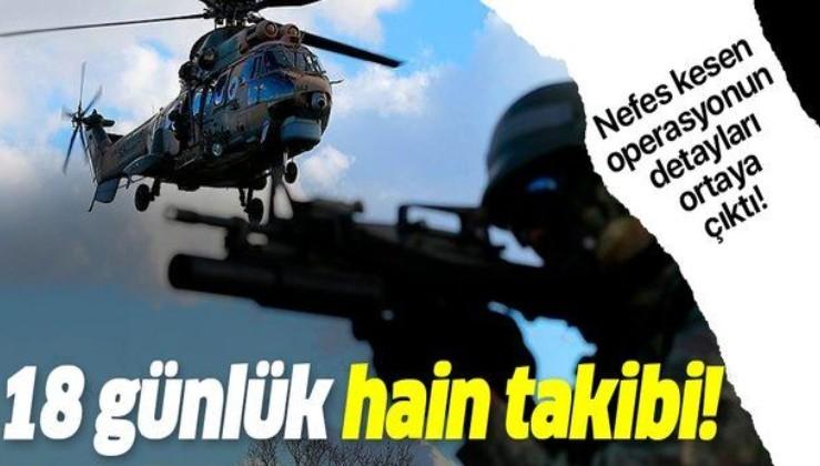 TSK'dan nefes kesen PKK operasyonu! 18 günlük takiple ağır darbe!