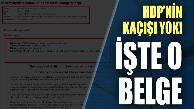 HDP'nin kaçışı yok: İşte o belge