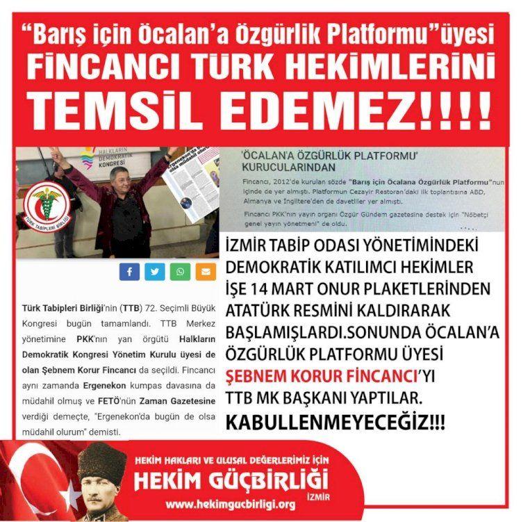 Şebnem Fincancı'ya bir tepki de İzmir'deki hekimlerden