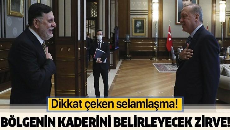 Ankara'da Cumhurbaşkanı Erdoğan ve Libya Başbakanı Fayiz es-Serrac arasında kritik görüşme