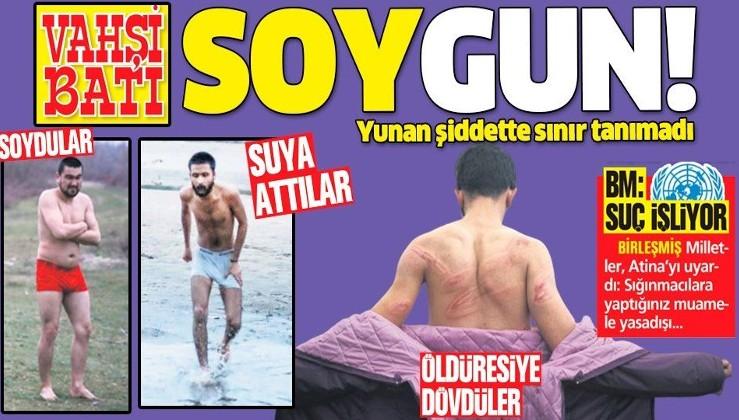 Yunanistan göçmenlere düşman gibi saldırdı! Çaresiz insanları soyup buz gibi havada nehre attı....