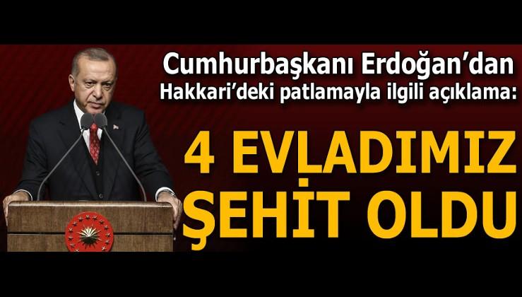 """Cumhurbaşkanı Erdoğan'dan Hakkari'deki patlamayla ilgili açıklama: """"PKK'nın arkasında ABD olduğunu..."""""""