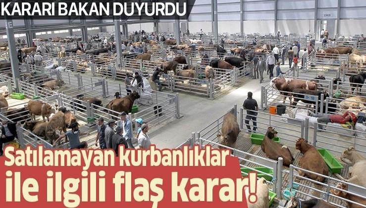 Devletçi uygulama: Kalan kurbanlıkları Et ve Süt Kurumu satın alacak