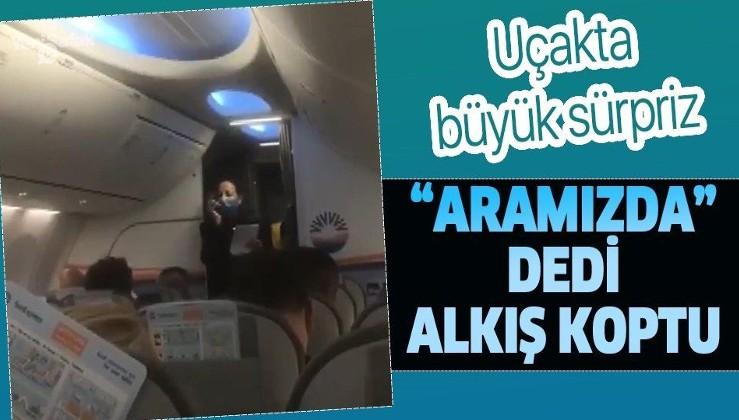 İzmir depreminden dönen kahraman AKUT ekibine uçakta alkışlı karşılama!