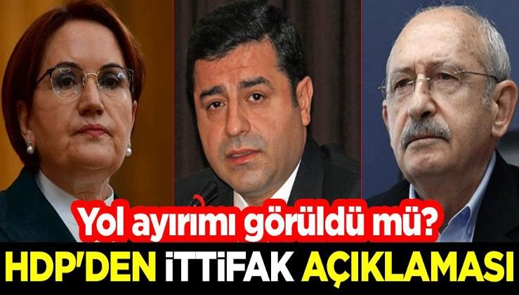 Yol ayrımı görüldü mü? HDP'den ittifak açıklaması