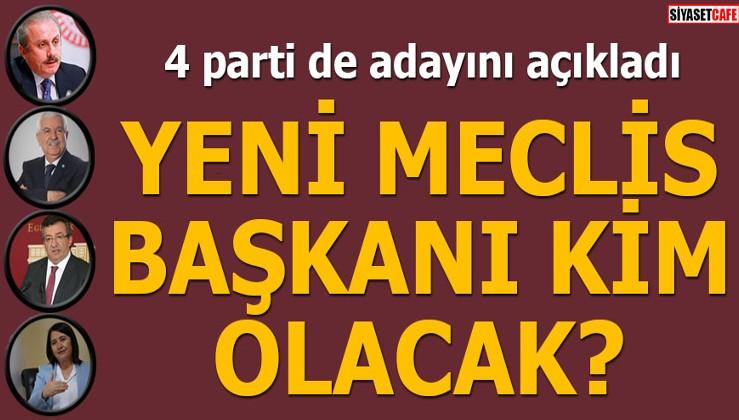 4 parti de adayını açıkladı Yeni Meclis Başkanı kim olacak?