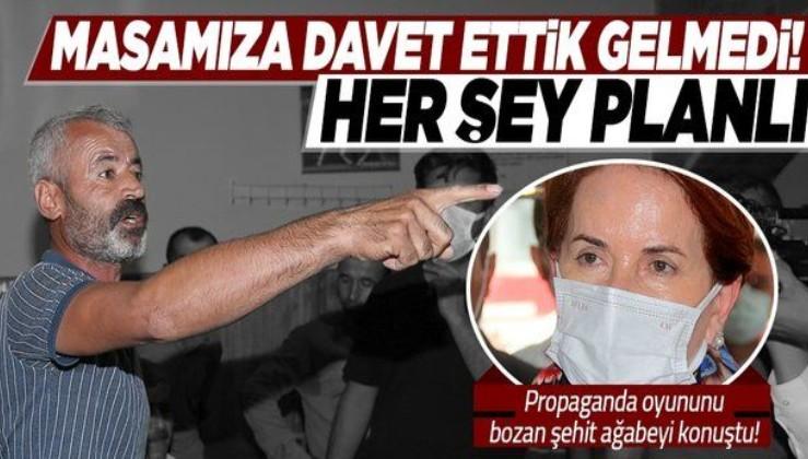 Meral Akşener'in propaganda oyununu ifşa eden şehit ağabeyi Yusuf Budak: Masamıza davet ettik gelmediler her şey planlı!
