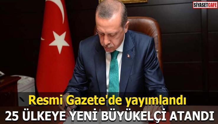 Resmi Gazete'de yayımlandı 25 ülkeye yeni Büyükelçi atandı