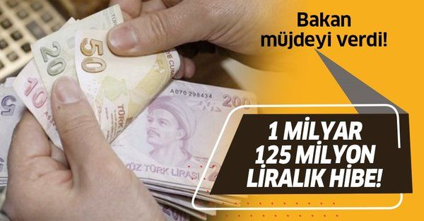 Tarım ve Orman Bakanı Bekir Pakdemirli duyurdu: 1 milyar 125 milyon liralık hibe!
