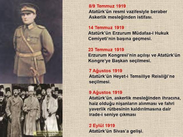 Atatürk'ün Askerlikten İstifası Üzerine