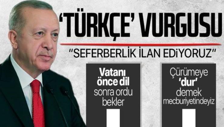 """Erdoğan """"Bizim Yunus"""" Yılı Açılış Töreni'nde duyurdu: 'Dünya Dili Türkçe' adıyla bir seferberlik ilan ediyoruz"""