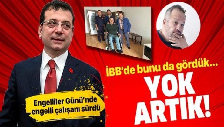 İstanbul Büyükşehir Belediyesi, Engelliler Günü'nde engelli çalışanı Sadullah Daban'ı sürdü