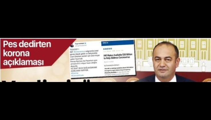 CHP'li Milletvekili Özgür Karabat'tan akılalmaz koronavirüs iftirası!.
