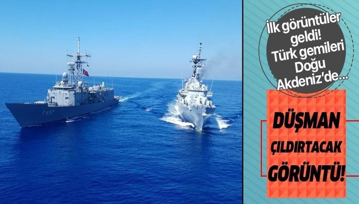Son dakika: MSB fotoğrafları paylaştı: Doğu Akdeniz'de tatbikat