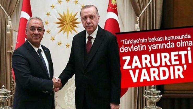 DSP Genel Başkanı Önder Aksakal, Erdoğan ile görüşmesinin ardından açıklamalarda bulundu.