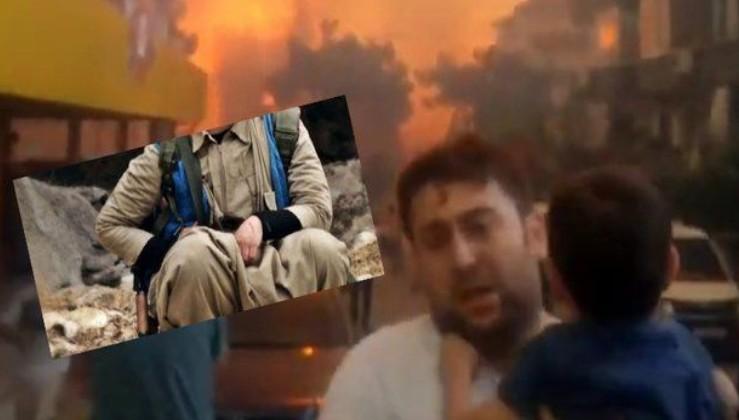 Hatay'daki yangını çıkaran PKK'lı teröristlere övgüye 1 gözaltı