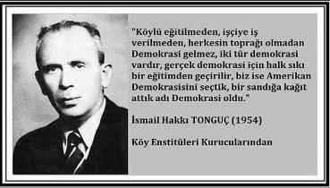 Türk Devrimi Eşsizdir - Köy Enstitüleri
