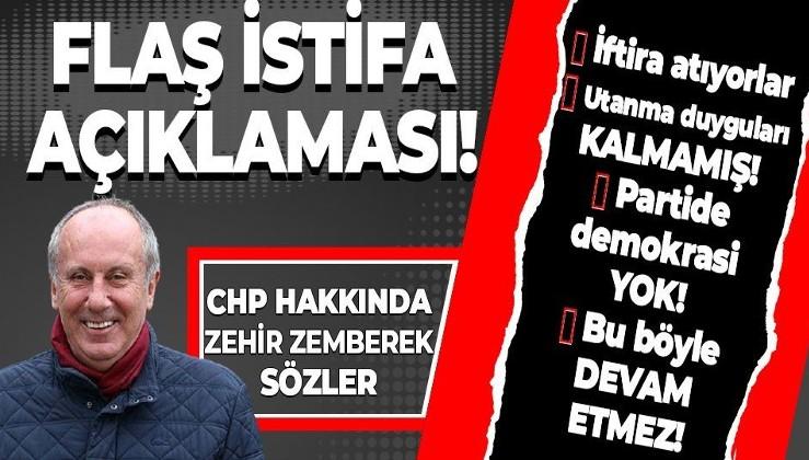 Son dakika: Muharrem İnce CHP'den ne zaman istifa edeceğini açıkladı!