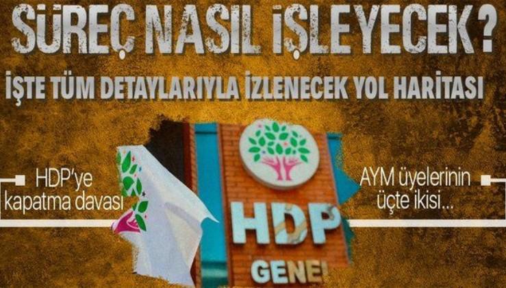 HDP'nin kapatılmasına ilişkin süreç nasıl işleyecek? Hangi adımlar izlenecek? İşte tüm detaylar...