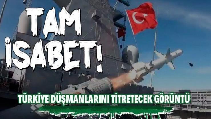 """Gücümüze güç katacak! Roketsan'ın geliştirdiği uzun menzilli gemisavar füzesi """"Atmaca"""" Sinop'ta test edildi"""
