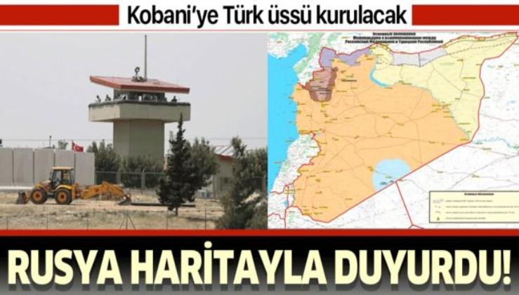 Rusya haritayla duyurdu! Ayn el Arap'a Türk üssü kurulacak.