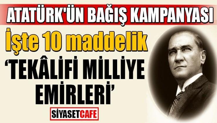 """Erdoğan: """"Türk milleti İstiklal Harbi döneminde Gazi Mustafa Kemal Atatürk'ün imzasıyla yayınlanan Tekâlif-i Milliye Emirleriyle varını yoğunu bağımsızlığı için ortaya koymuş bir millettir."""""""