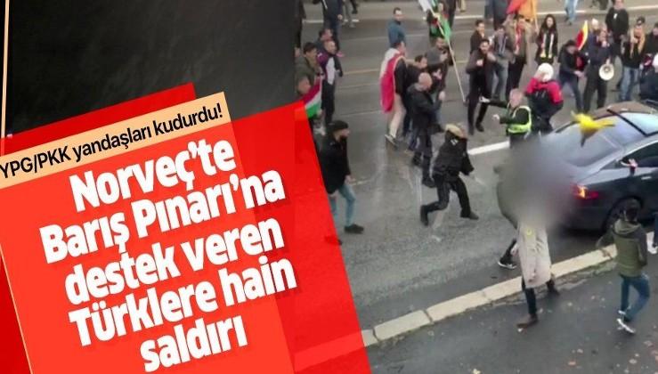 Norveç'te PKK/PYD/YPG yandaşları Barış Pınarı Harekatı'na destek veren Türklere saldırdı.