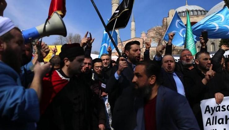 Erdoğan'dan Ayasofya çıkışı: Tezgâh!