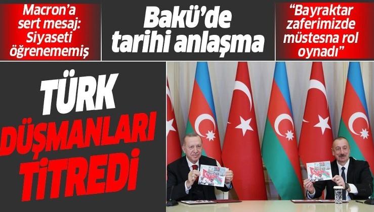 Son dakika: Azerbaycan'da tarihi gün! Erdoğan ve Aliyev'in katıldığı törende imzalar atıldı