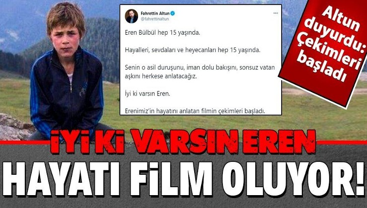 """""""Erenimiz'in hayatını anlatan filmin çekimleri başladı"""""""