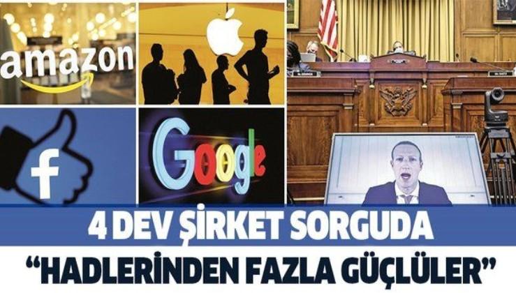 Apple, Amazon, Google ve Facebook kartel olmakla suçlanıyor