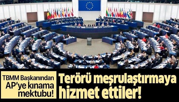 Son dakika: TBMM Başkanı Mustafa Şentop'tan AP'ye kınama mektubu!.