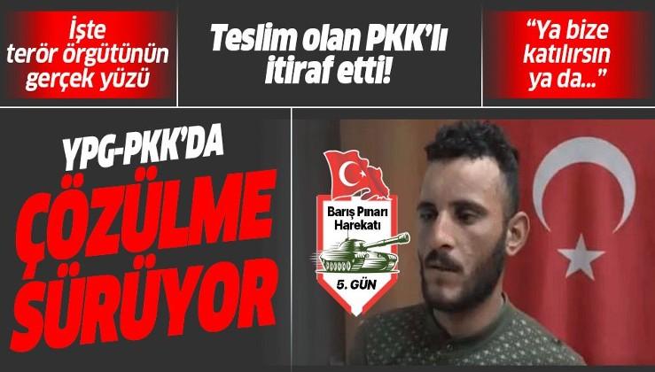İşte terör örgütünün gerçek yüzü! Teslim olan PKK'lı terörist itiraf etti: Ya bize katılırsın ya da.....