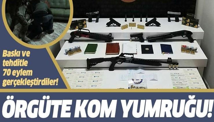 Silahlı suç örgütü kurarak baskı ve tehditle 70 eylem gerçekleştirdiler! KOM'dan o çeteye dev operasyon: 19 gözaltı