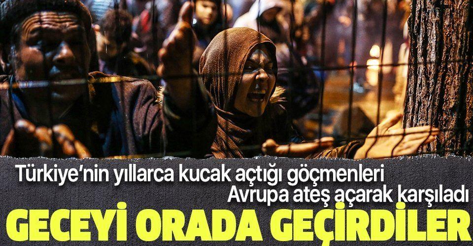 Son dakika: Göçmenler sınıra akın etti! Görüntüler Edirne'den