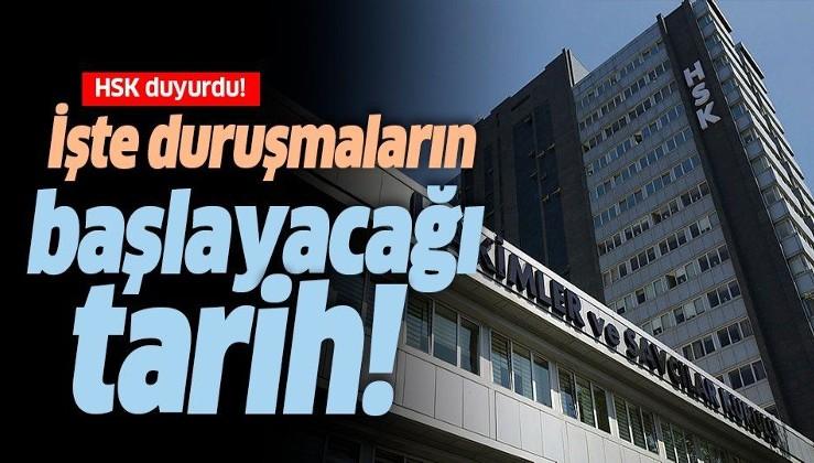 HSK duyurdu: Adli ve idari yargı ilk derece mahkemelerinde duruşmalar 16 Haziran'da başlıyor!