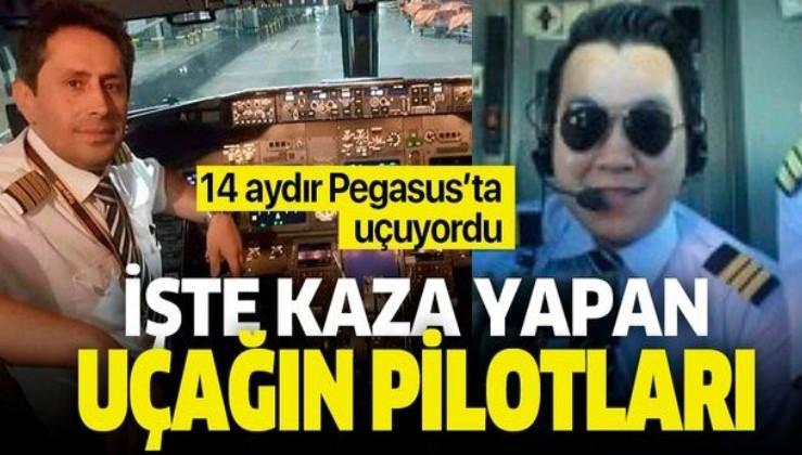 İşte Sabiha Gökçen'de kaza yapan Pegasus uçağı pilotları! Fotoğrafları ortaya çıktı.