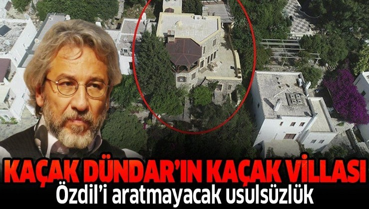 Can Dündar'ın villası da kaçak çıktı