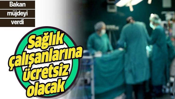 Son dakika: Bakan Turhan'dan sağlık çalışanlarına ücretsiz ulaşım müjdesi