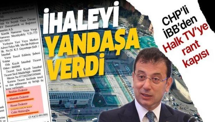 CHP'li İBB'den Halk TV'ye rant kapısı: İhaleyi yandaşa verdi
