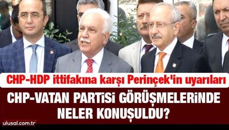 CHP-Vatan Partisi görüşmelerinde neler konuşuldu?
