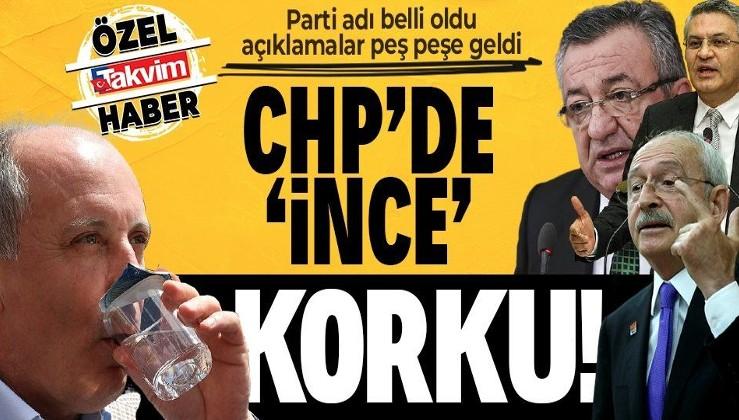 CHP'de ince korku! Muharrem İnce'nin partisinin adı belli oldu açıklamalar peş peşe geldi!