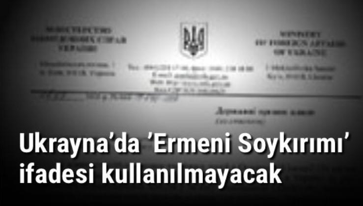 Bakan çağrıda bulundu! Ukrayna'da 'Ermeni Soykırımı' ifadesi kullanılmayacak