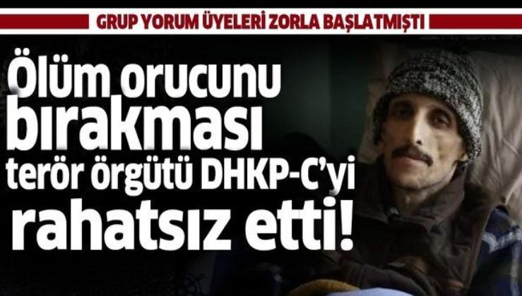 Grup Yorum üyelerinden İbrahim Gökçek'in ölüm orucunu bırakması DHKP-C'yi rahatsız etmiş!