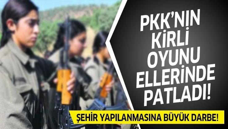 PKK'nın kirli oyunu ellerinde patladı! Ailelerin yardımıyla şehir yapılanması çökertildi