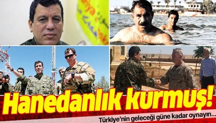 PKK/YPG/PYD terör örgütü elebaşı Mazlum Kobani kod adlı Ferhat Abdi Şahin, Ayn El-Arap'da (Kobani) hanedanlık kurmuş