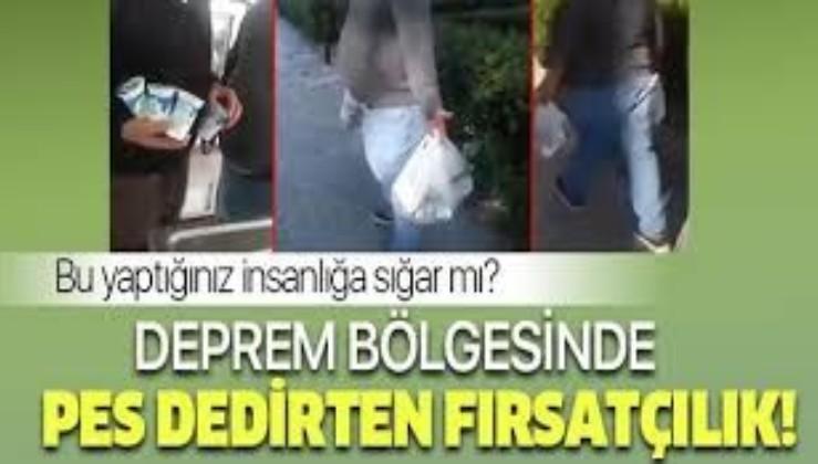 Rezil adam: Deprem bölgesinde dağıtılanları satmaya çalışırken yakalandı