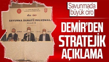 Savunma Sanayi Başkanı İsmail Demir: Bugün savunma sanayi ciromuz 10 milyar dolarları aştı