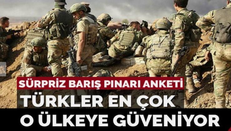 Türkler Barış Pınarı Harekatı'nda en çok hangi ülkeye güveniyor?