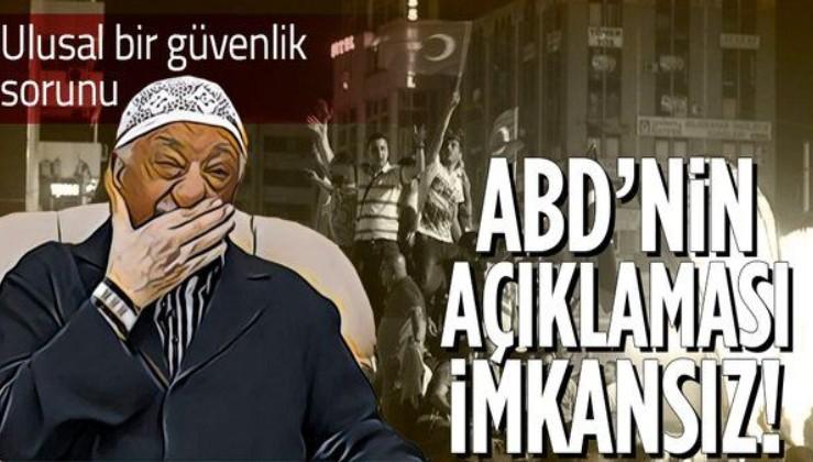 ABD'li Orta Doğu uzmanından itiraf gibi Fetullah Gülen açıklaması: ABD'nin Türk halkına açıklaması imkansız